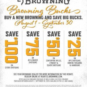 2020 Browning Bucks Promo August Kittles Outdoor Colusa