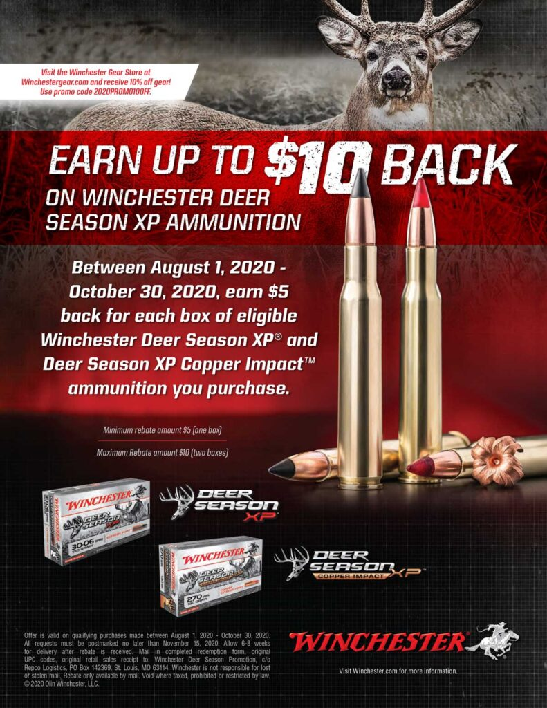 2020 Rebate - Winchester Deer Season 8-1-20 - 10-30-20 Kittles Outdoor Colusa
