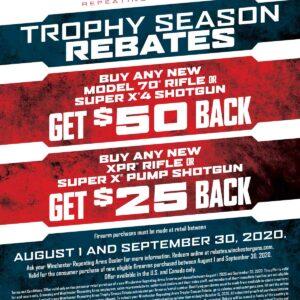 Winchester Trophy Season Rebate