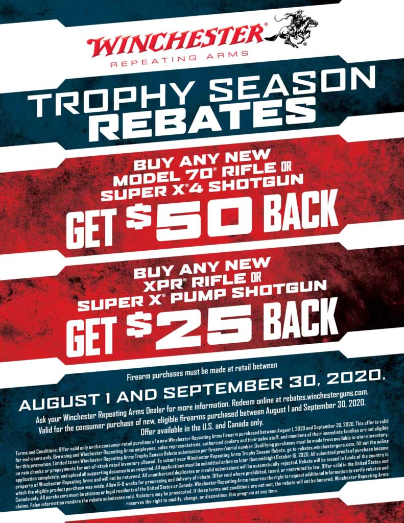 Winchester Trophy Season Rebate