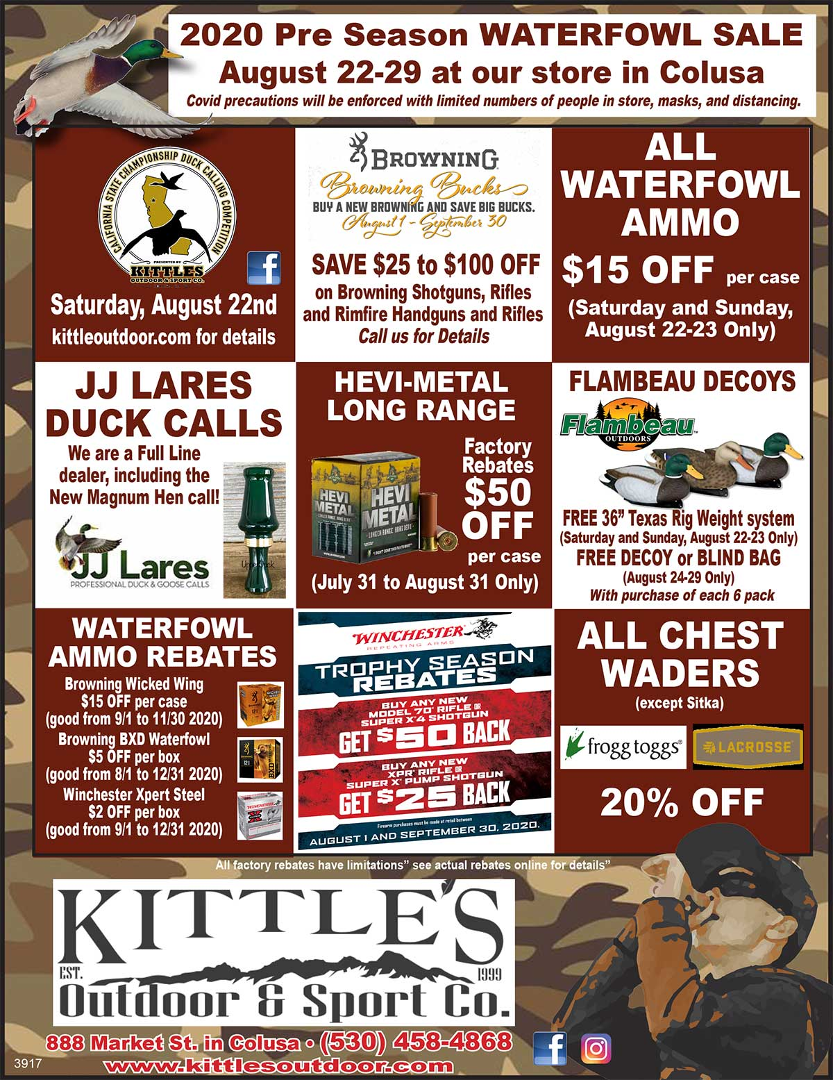 2020 Pre Season WATERFOWL SALE